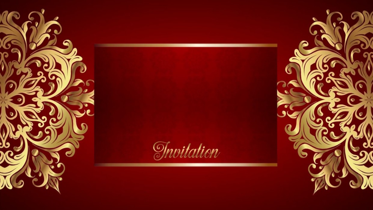 invitation card background in hd  golden wedding card