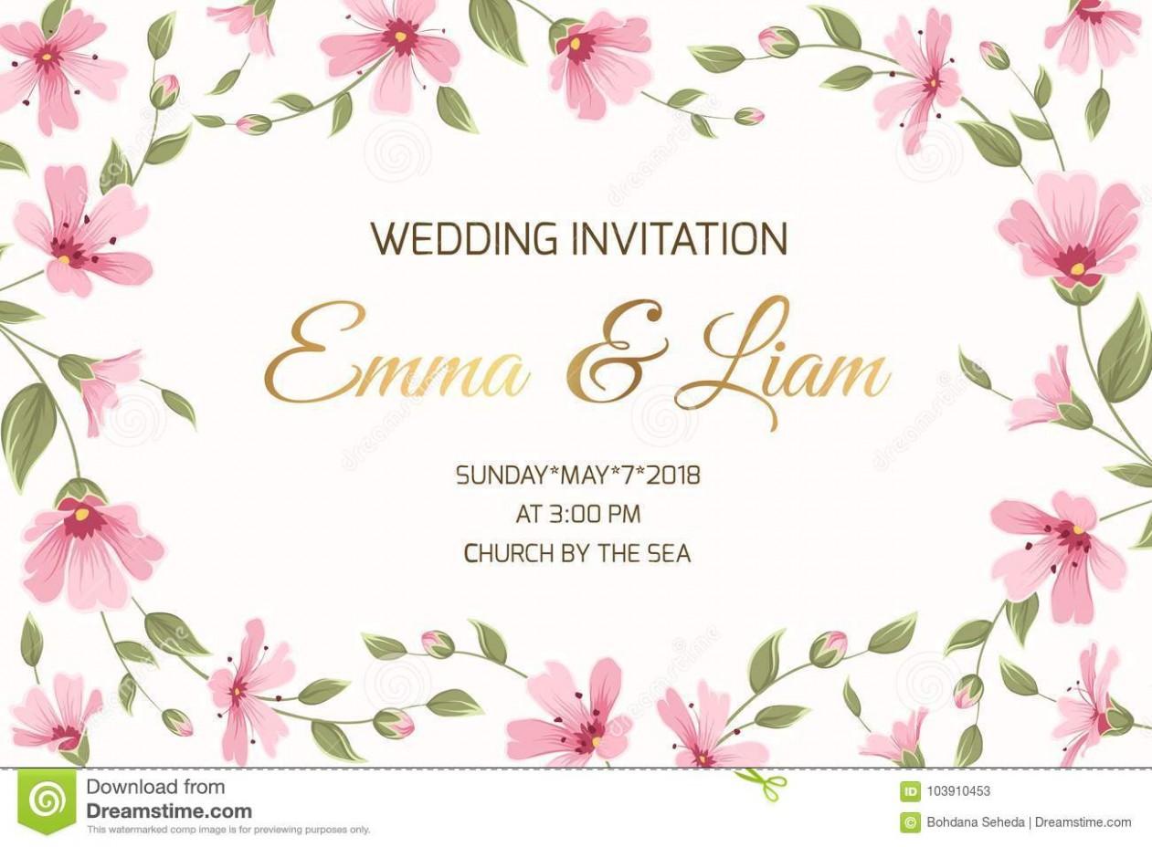 invitation card template landscape  Wedding Invitation Gypsophila Flowers Border Frame Stock ..