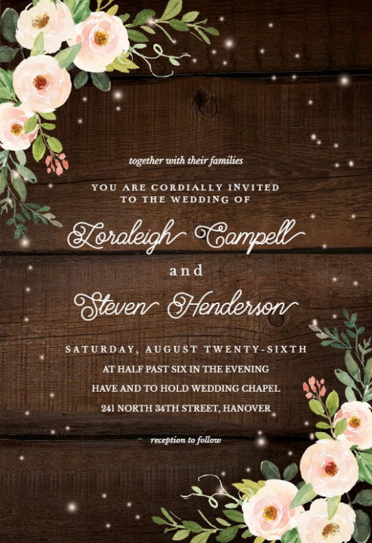 wedding invitation e card template  Wedding Invitation Templates (Free) | Greetings Island - wedding invitation e card template
