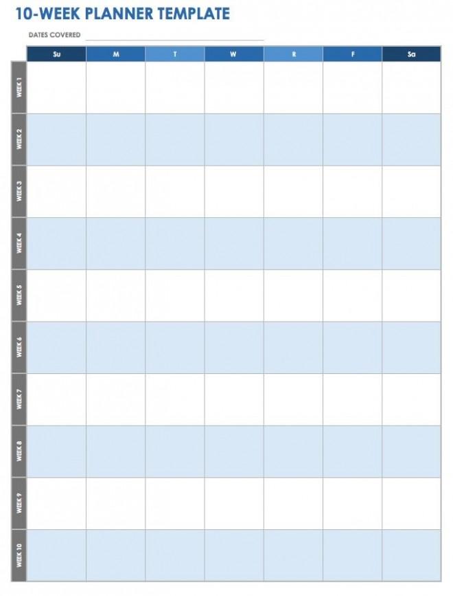 10 week calendar template  28 Free Time Management Worksheets | Smartsheet - 10 week calendar template