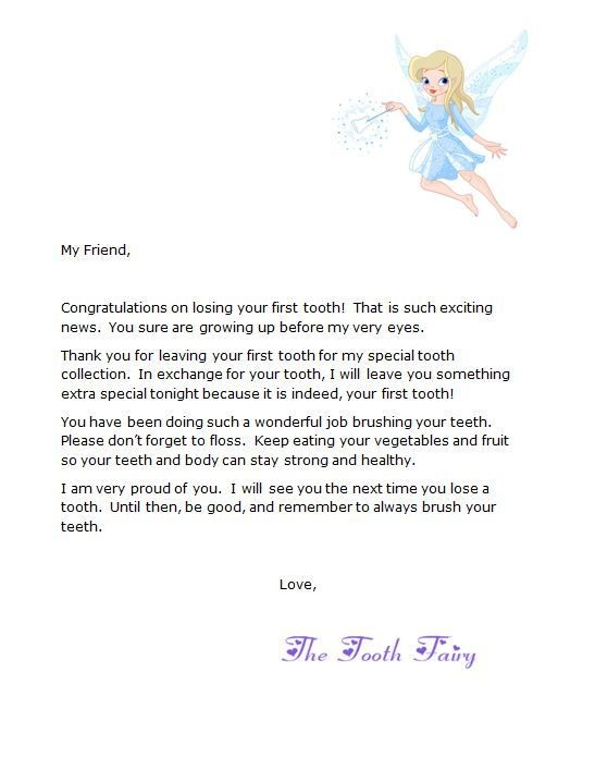 Free Letter from Tooth Fairy | Tooth Fairy | Tooth fairy ..