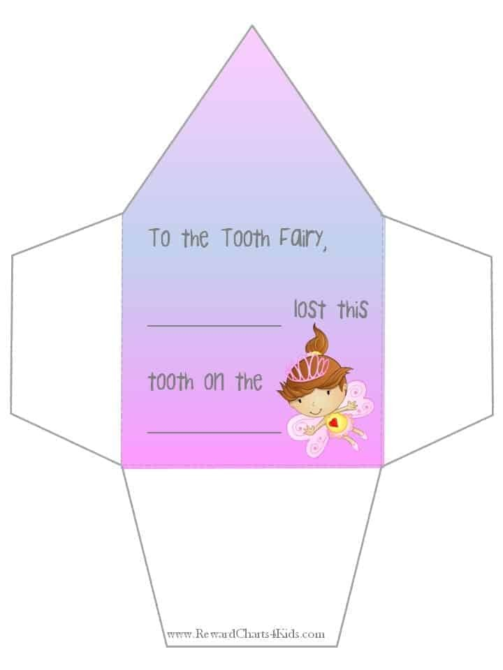 Tooth Fairy Letter | Free Printable - tooth fairy letter template girl free