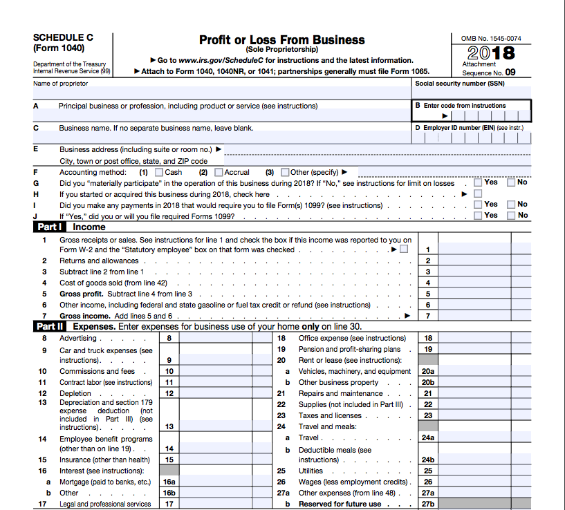 How To File Schedule C Form 1040   Bench Accounting - form 1040 with schedule c