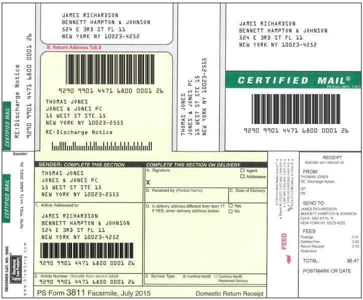 standard form 95 usps  Blumberg Free Certified Mail Software - standard form 95 usps