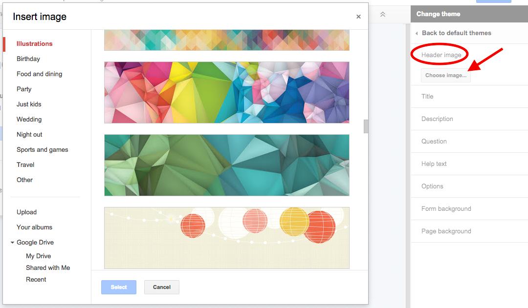 size of google form header  TeachingTechNix: Customize the Look of Your Google Form - size of google form header