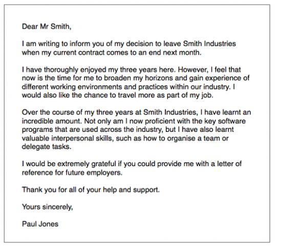 letter of resignation ielts  IELTS General Writing: resignation letter - ielts-simon
