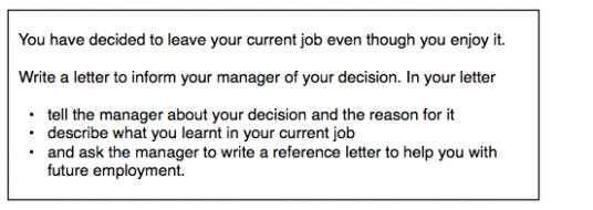 letter of resignation ielts  IELTS General Writing: resignation question - ielts-simon