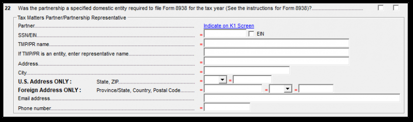 form 1065 tax matters partner  1065 - Appointed Representative (Tax Matters Partner) (1065) - form 1065 tax matters partner