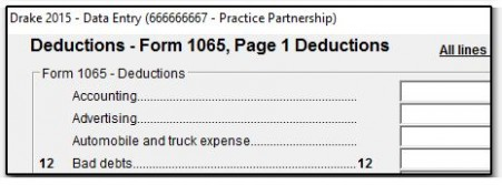 form 965 transition tax statement  1065 - Entering Mileage - form 965 transition tax statement