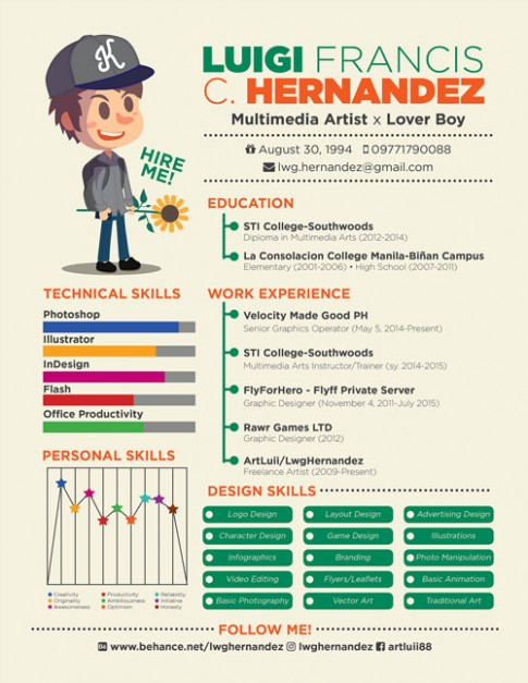resume template artist  20+ Newest Creative Resume Designs For Inspiration 2018 ..