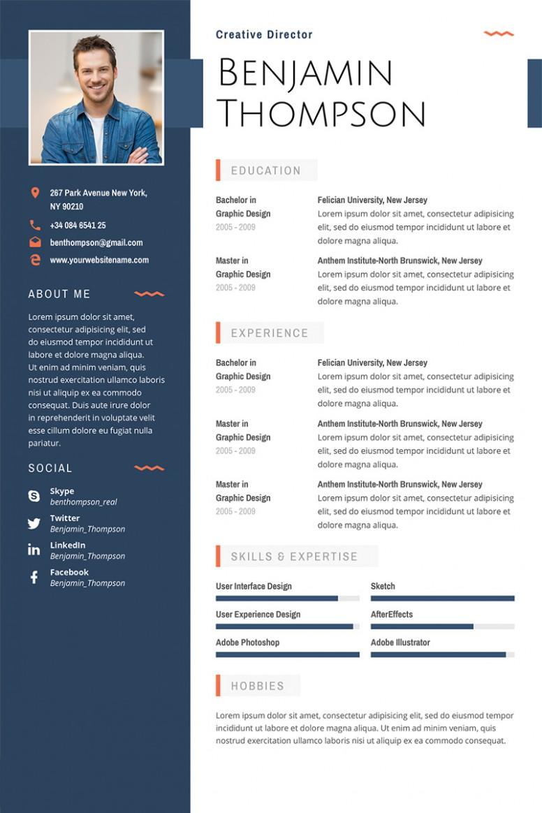resume template artist  Lebenslauf-Vorlage #64872 für Grafiken - resume template artist